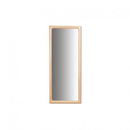 Veľké drevené hranaté zrkadlo LA113
