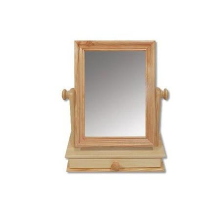 Zrkadlo s dreveným rámom a skrinkou LT101