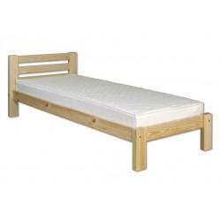 Jednoduchá posteľ z masívneho dreva
