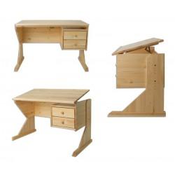 Písací stolík s nastaviteľnou doskou z masívu BR116