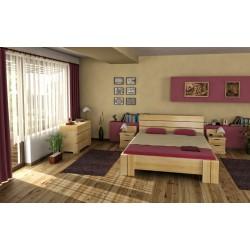Vyššia posteľ z bukového dreva do spálne