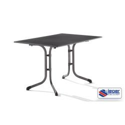 Obdĺžnikovitý stôl tmavej farby