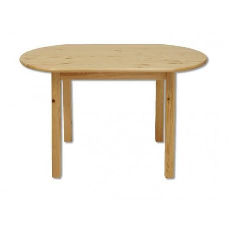 Oválny drevený stôl do jedálne