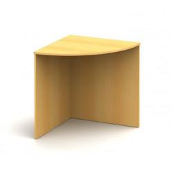 Oblúkový kancelársky stôl do rohu