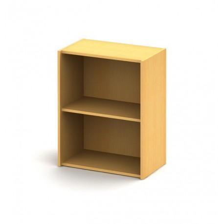 Otvorená policová skrinka z drevotriesky