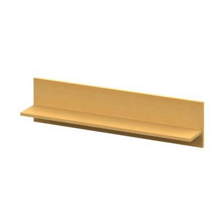 Dlhšia nástenná drevená polica