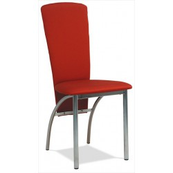 Kovová stolička s čalúnením a kovovými nožičkami