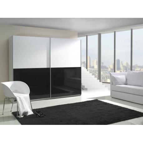 Skriňa LUX bielo-čiernej farby