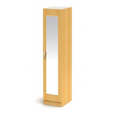 Drevená skriňa so zrkadlom