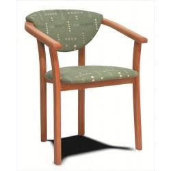Pohodlná drevená stolička