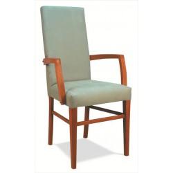 Celočalúnená stolička s podrúčkami