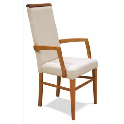Čalúnená stolička s podrúčkami