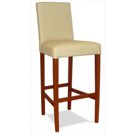Čalúnená barová stolička s masívnou konštrukciou
