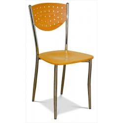 Jedálenská stolička z kovového materiálu