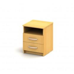 2-zásuvkový nočný stolík
