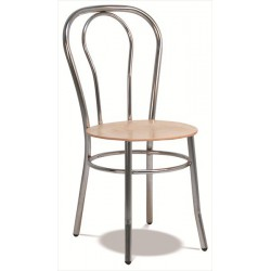 Stolička Bistrot s dreveným sedákom