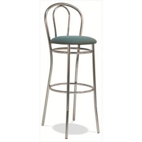 Barová stolička s kovovým operadlom
