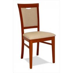 Drevená stolička s čalúneným sedákom