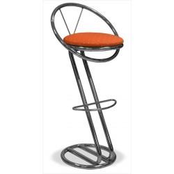 Kovová barová stolička s operadlom