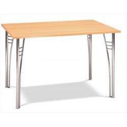 Hranatý stôl do reštaurácie