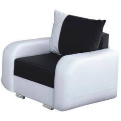 Bielo-čierne kreslo