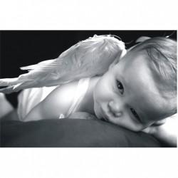 Obraz dieťa 100x40 cm - sivobiely