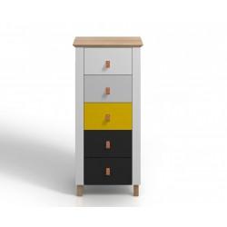 Drevená komoda s 5 zásuvkami VAXHOLM