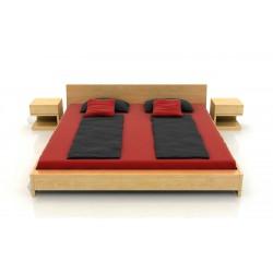 Masívna borovicová manželská posteľ Lagerkvist
