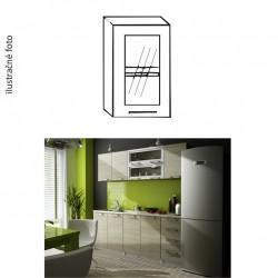 Presklená horná kuchynská skrinka IRYS