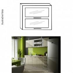 Dvojdverová presklená kuchynská skrinka IRYS G2W-80