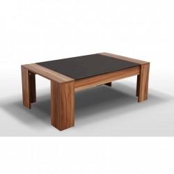 Konferenčný stôl s čiernym sklom RAYMOND
