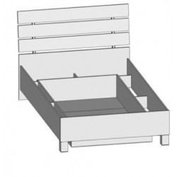 Širšia jednolôžková posteľ LUNA