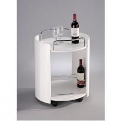 Okrúhly stolík bielej farby