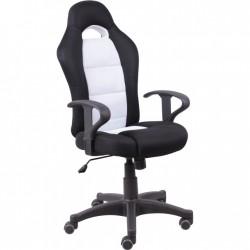 Čierno-biele kancelárske kreslo