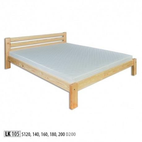Manželská posteľ z masívu LK105