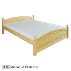 Drevená manželská posteľ LK103