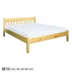Manželská posteľ z masívu LK116