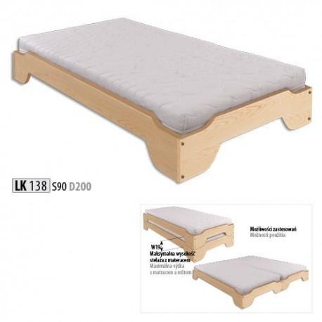 Kombinovateľná  jednolôžková posteľ LK138