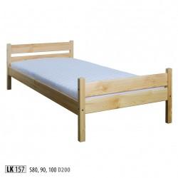 Masívna jednolôžková posteľ LK157