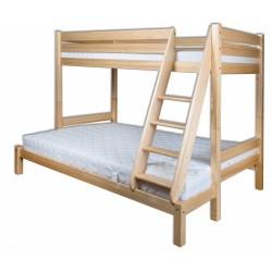 Poschodová posteľ z masívu dvojlôžková LK155