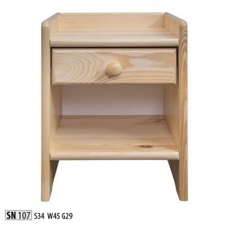 Nočný stolík z borovicového dreva SN107