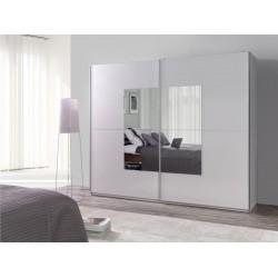 Skriňa bielej farby so zrkadlami LUX 30 NA SKLADE