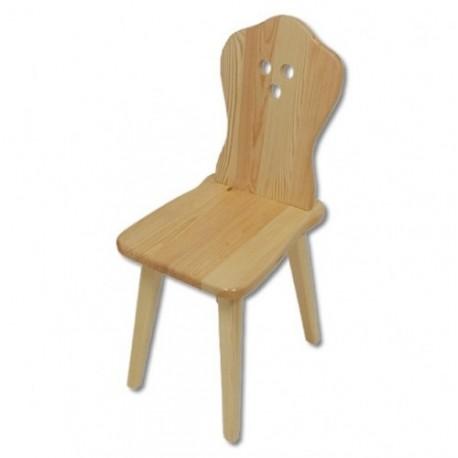 Stolička z borovicového dreva KT110