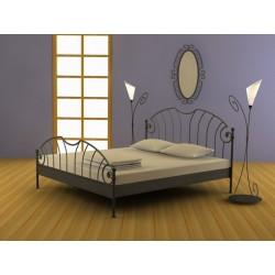 Dvojlôžková posteľ z kovaného materiálu