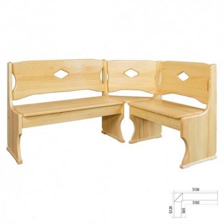 a295b3471 Rohová lavica z masívneho dreva NR103 | Dom Nábytku