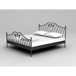 Pevná kovaná posteľ