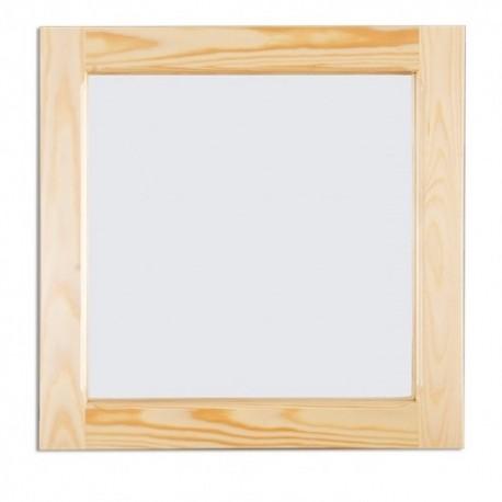 Väčšie štvorcové zrkadlo z masívu LA116