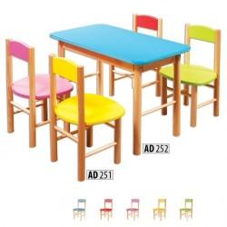 Drevená detská stolička AD251