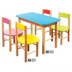 Drevený detský stolík AD252