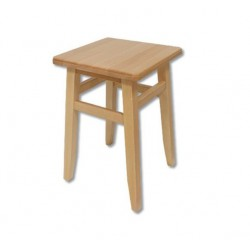 Drevená taburetka s hranatým sedákom